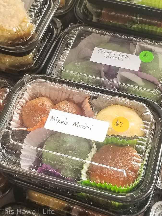 Sweet mochi snacks