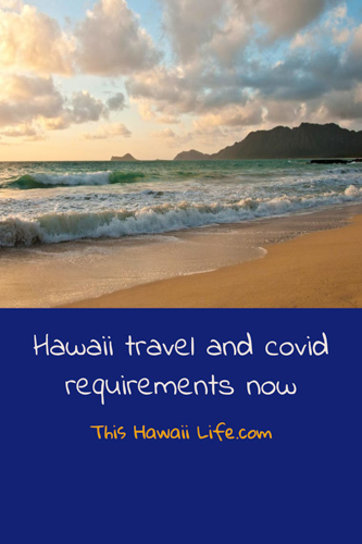 Hawaii travel and covid requirements now