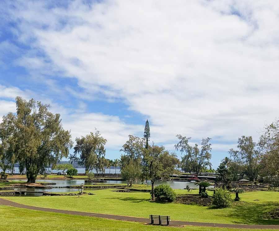 Scenic Queen Liliuokalani Gardens