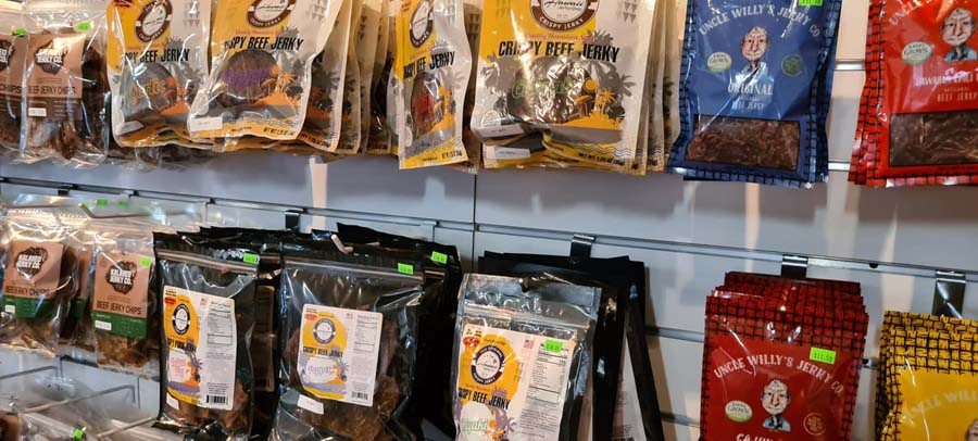 local Beef Jerky and other tropical versions are tasty Hawaii snacks