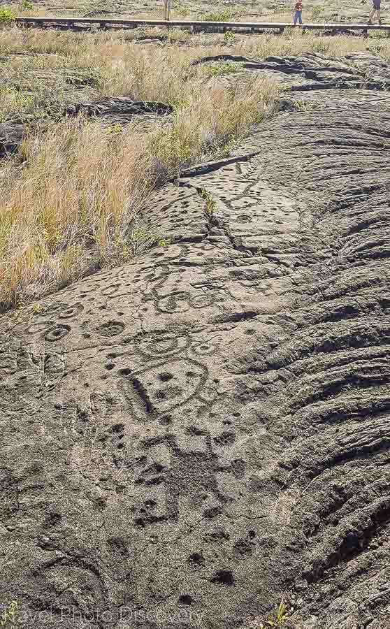 Pu'u Loa petroglyph field at Volcanoes National Park