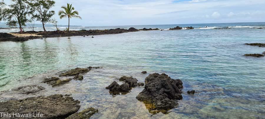 Protected break waters in the bay