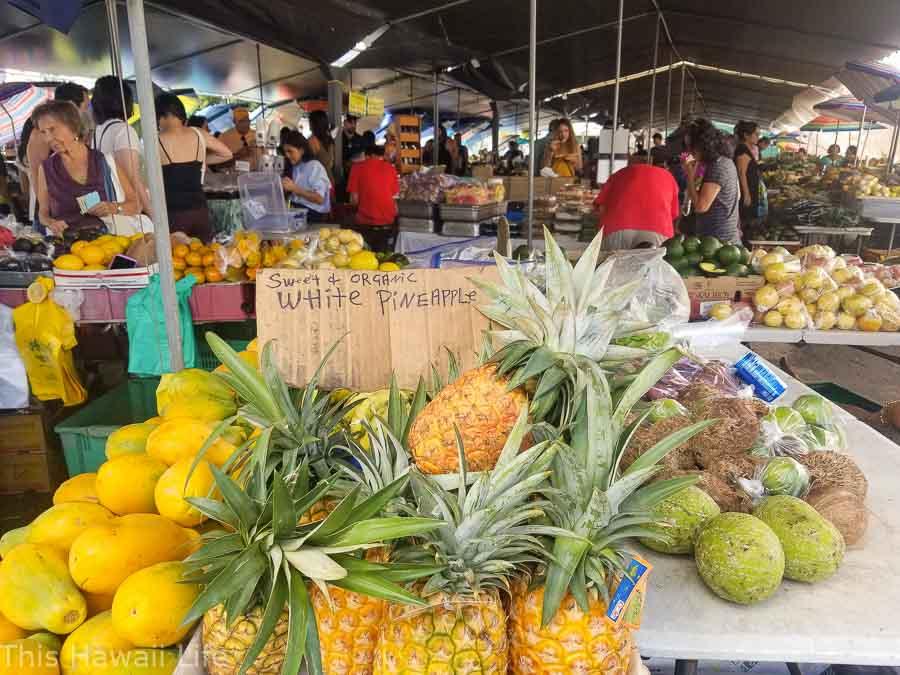 Farmers market in Hawaii