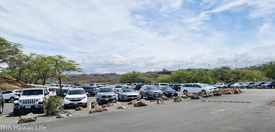 Parking at Hapuna Beach