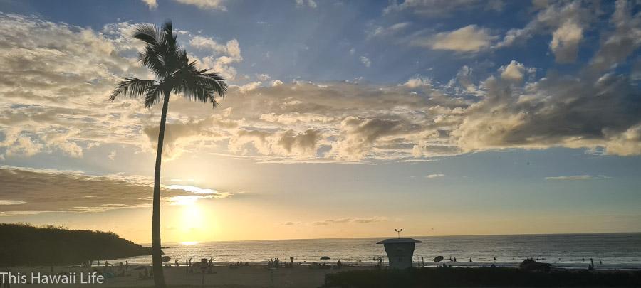 Watch a gorgeous sunset at Hapuna