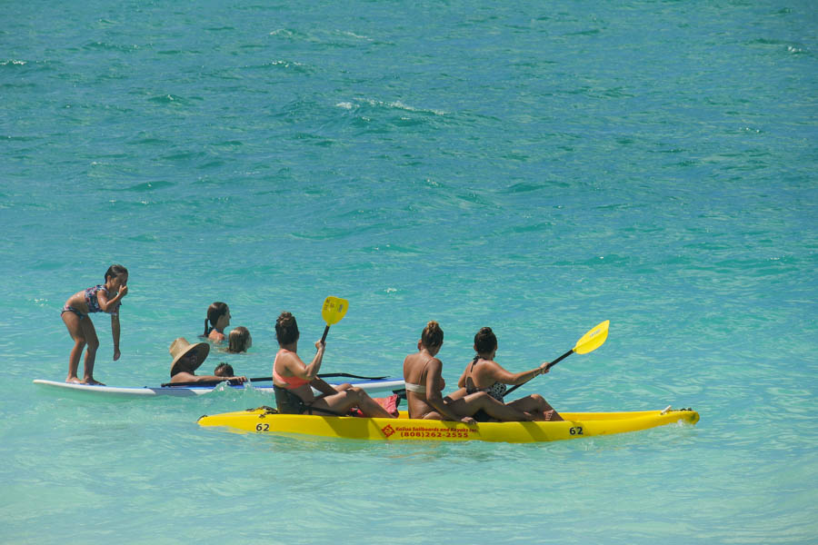 kayak to the Mokes isles from Kailua