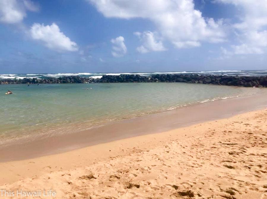Enjoy beach fun at Lydgate State Park area