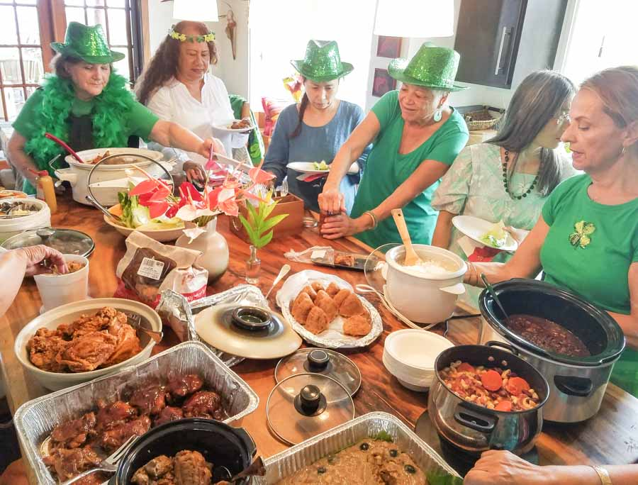 potlucks are always the big events and social gatherings on the islands
