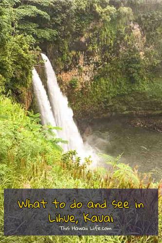things to do in lihue, kauai pinterest image