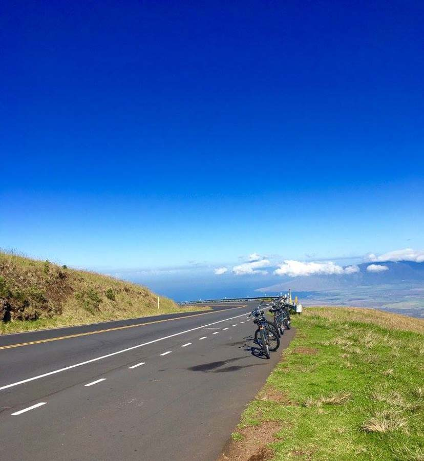 Bike down fast on an actual volcano