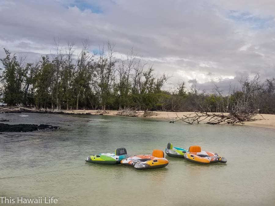 Lagoon areas opening to Makalawena beach