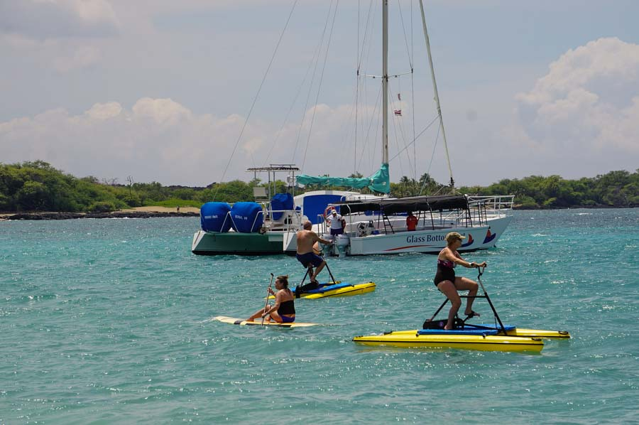 Water sport fun at A Bay