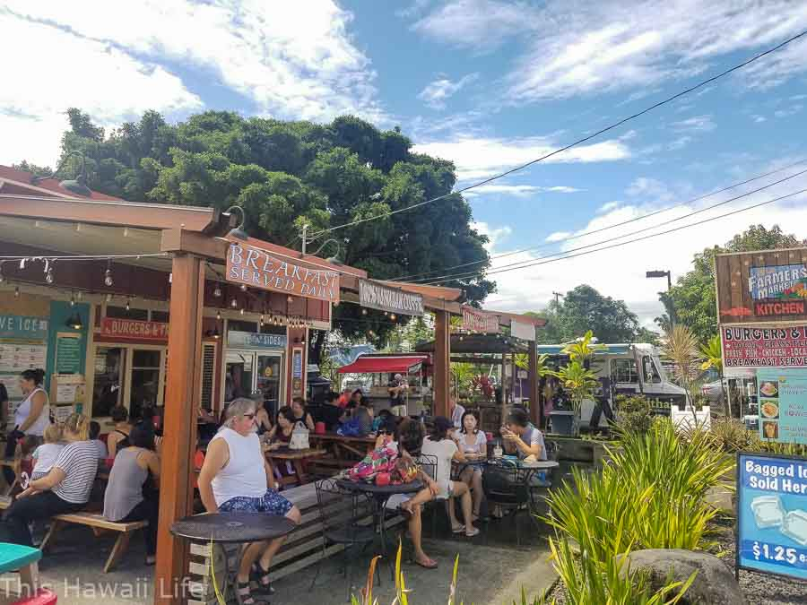 food courts at Hilo farmers market