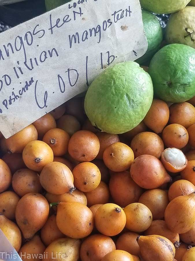 exotic and rare fruits at the Hilo Farmers markets