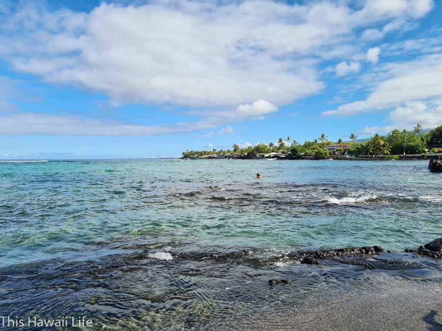 Kahalu'u Beach Park - snorkeling and surfing fun in the bay