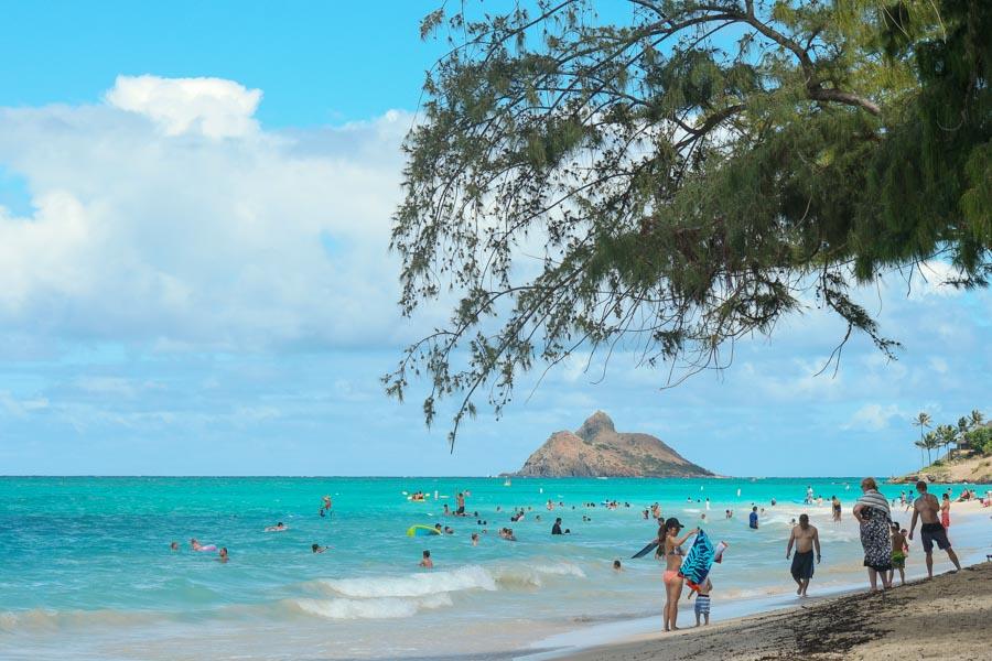 Kailua town and beach