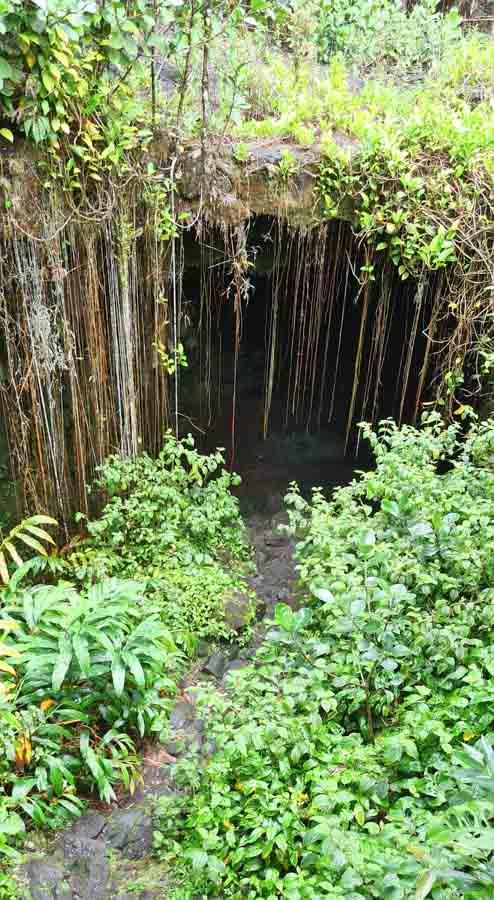 Where are the Kaumana Caves Located?