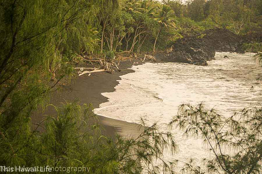 Kehena Beach on the Puna Coastline Big Island