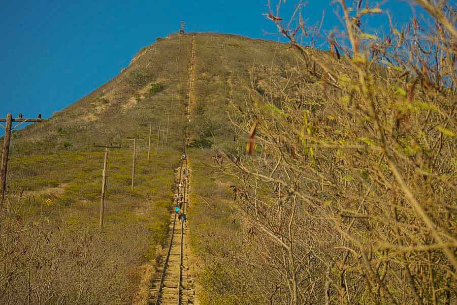 Experience the Koko Head Trail on the east side of Oahu, Hawaii