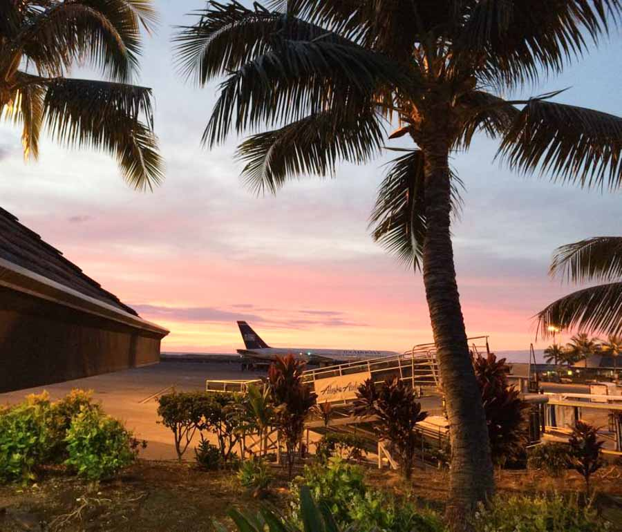 Drive time from Kona International Airport to major destinations on island