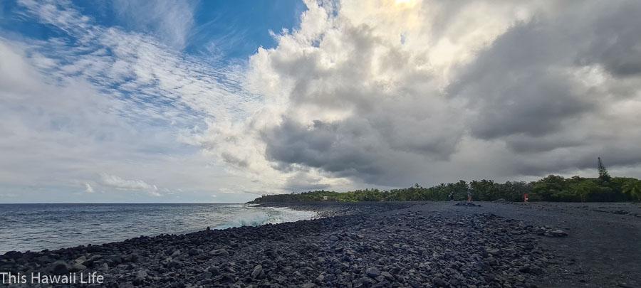 Pohoiki black sand beach