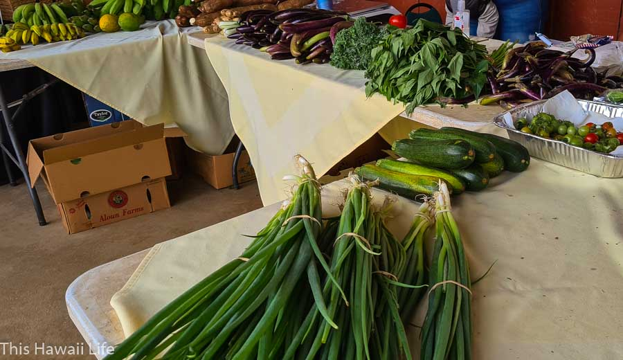 When are the farmers market days at Kamuela Farmers Market?