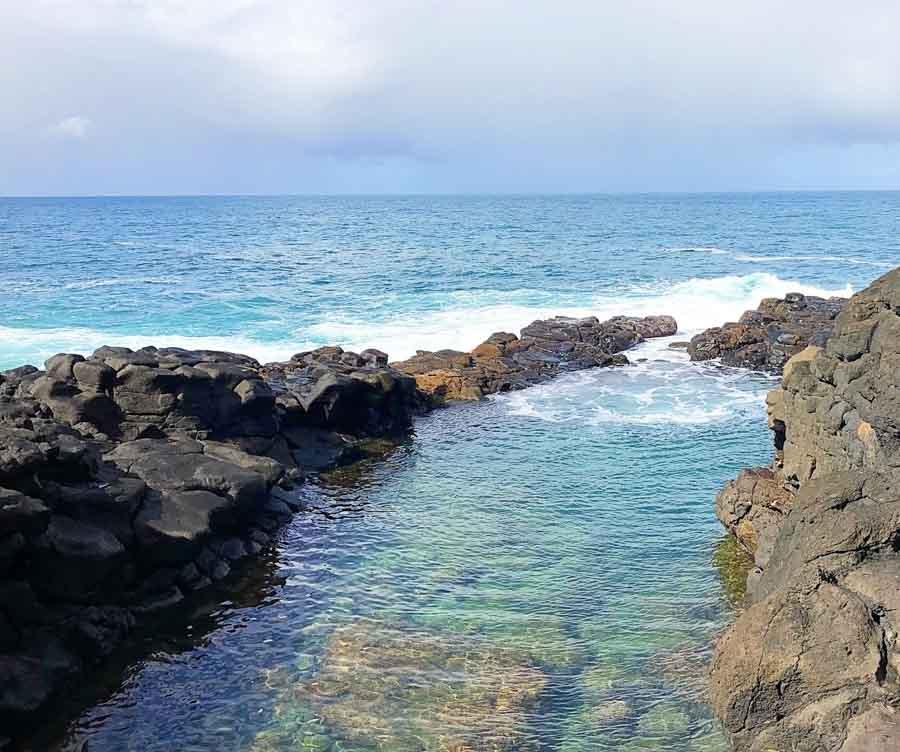Explore the Queens Bath in Kauai