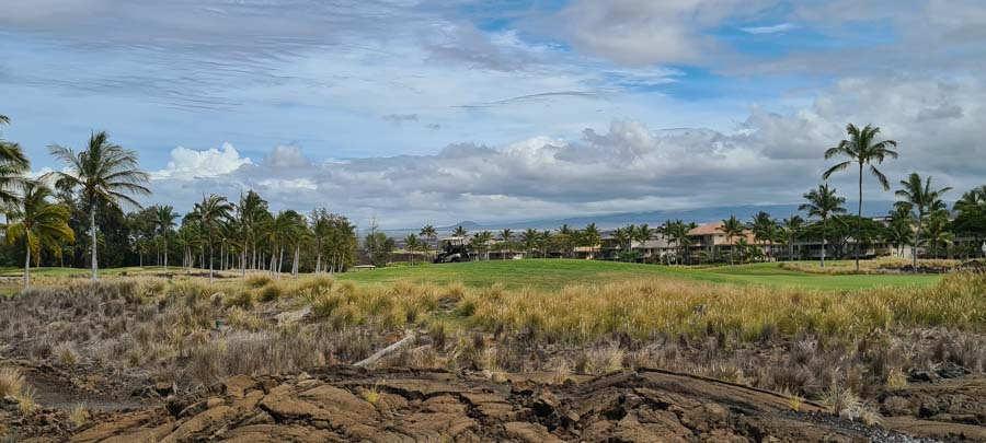 Golfing at Waikoloa Village
