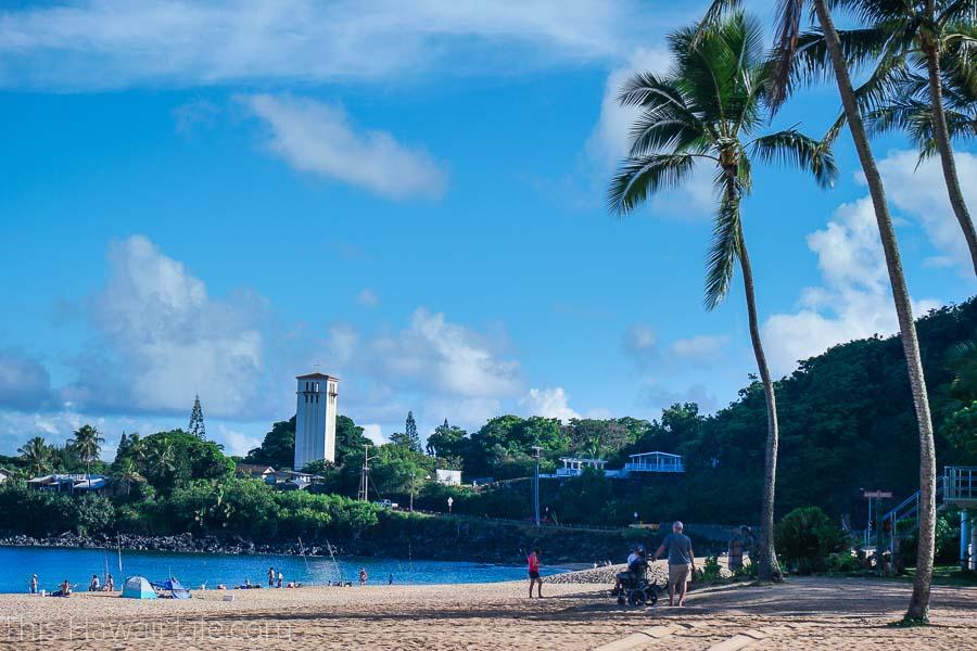 Where is Waimea Bay Beach Park located?