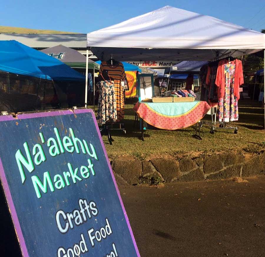 Visit the Na'alehu Farmers market