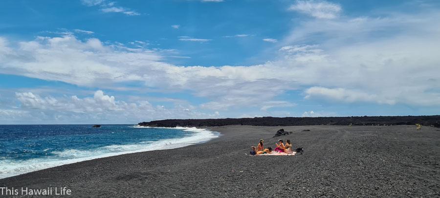 A new black sand beach at Kapoho