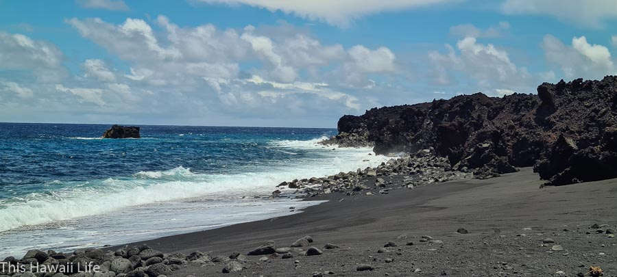 Kapoho black sand beach