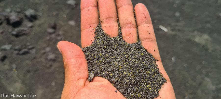 Black sand was created