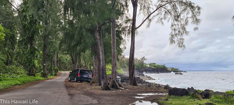 New Governemtn beach road from Pahoa to Hawaiian beaches loop