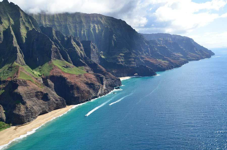 History of the Napali coast in Kauai
