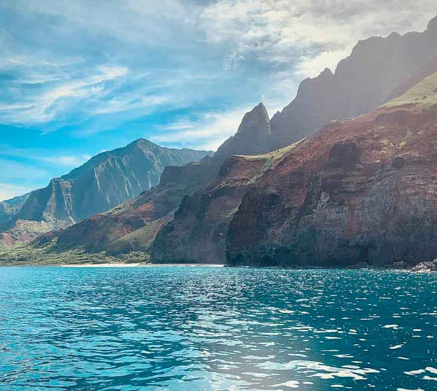 How can you explore the Napali coast?