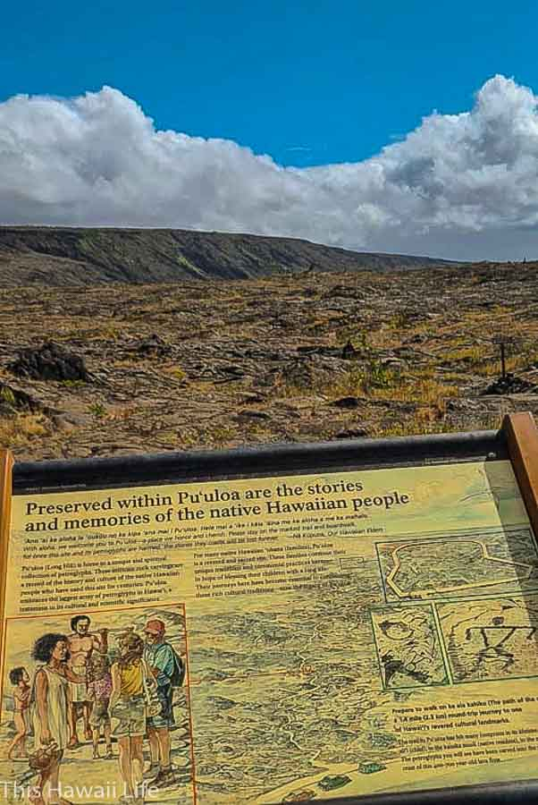 How to get to the Pu'u Loa Petroglyphs