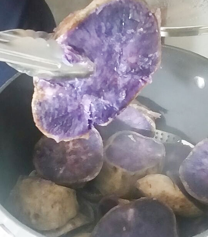 How to cook with Purple sweet potato
