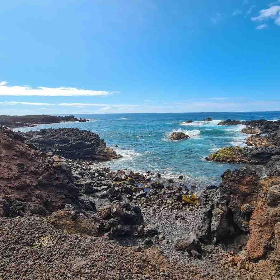 Passing through coves and coastline at the Ala Kahakai Trail