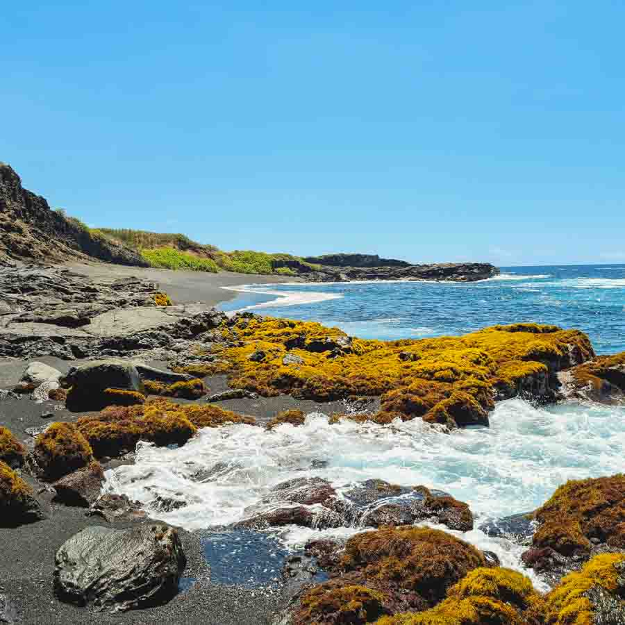 Arriving Kamehame beach trough the coastal route