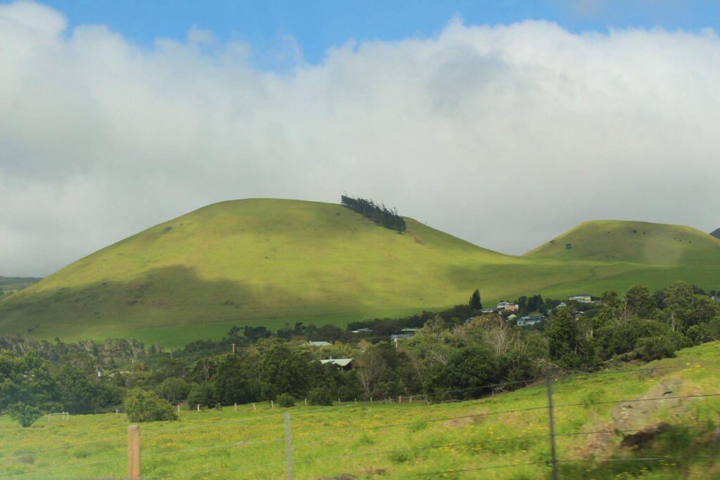 Scenic Saddle road to Waimea