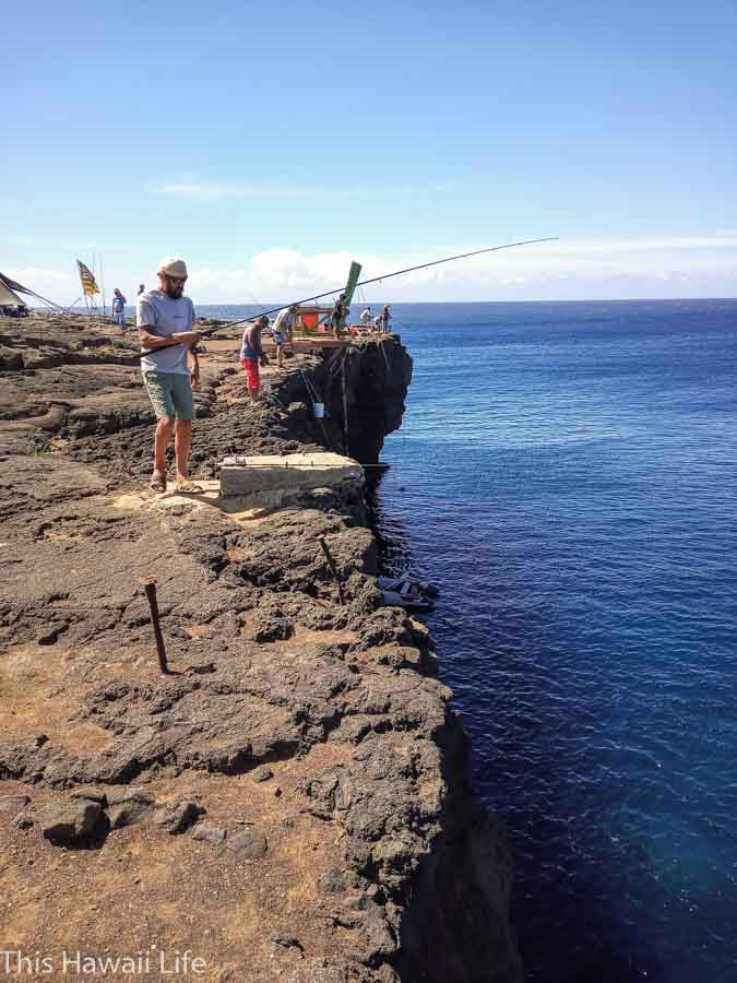 Fishing is popular just off the cliffs at Ka Lae