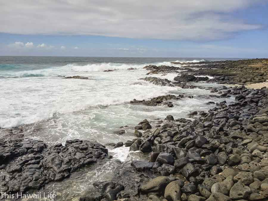 Walk along the west side on the coastal trails going towards the boat ramp or to the Green Sand beach or Papakolea.
